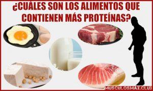 alimentos que contienen mas proteinas para aumentar masa muscular