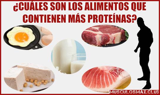 ¿Qué Alimentos contienen más proteínas para Aumentar Masa Muscular?