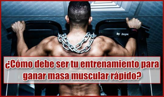 Así debes entrenar si quieres ganar masa muscular rápido