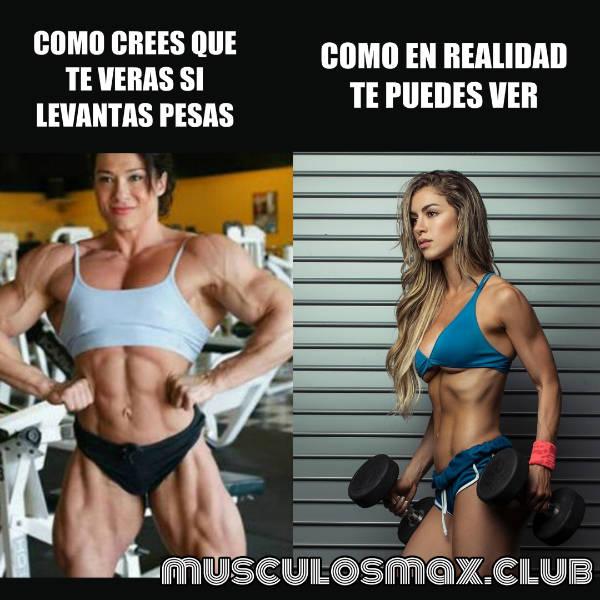 Mito 1 Hcaer pesas te hará ver musculosa