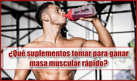 Estos son los suplementos que debes tomar para ganar masa muscular rápido