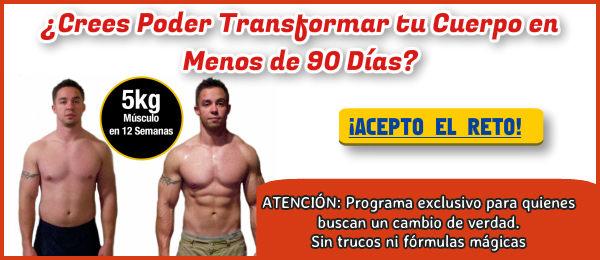 Transforma tu Cuerpo en menos de 90 días