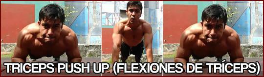 Flexiones de tríceps