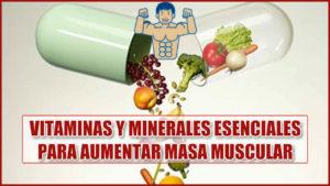 vitaminas y minerales para aumentar masa muscular