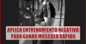 Aplica Entrenamiento Negativo para Ganar Músculo Rápido 5