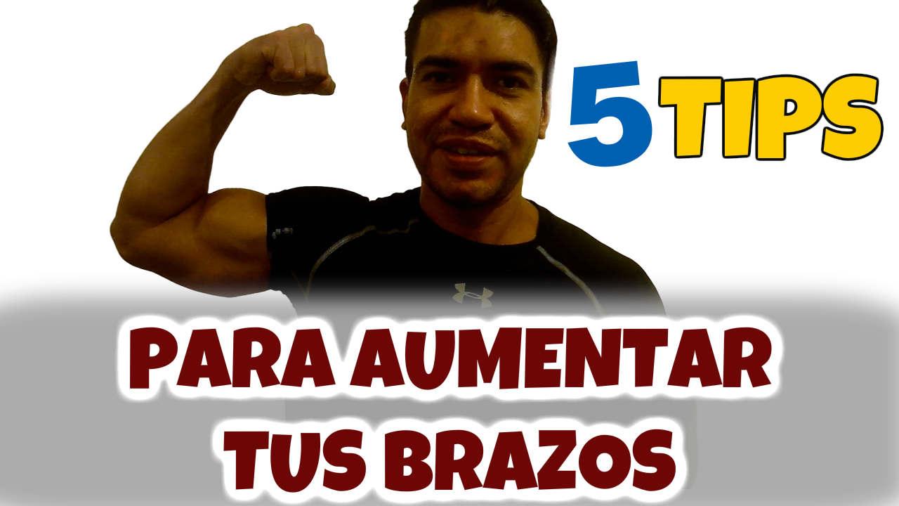 ¿Cómo aumentar masa muscular en brazos? 5 Tips para hacerlo