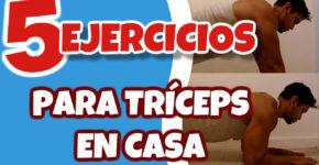 5 Ejercicios para Triceps en casa