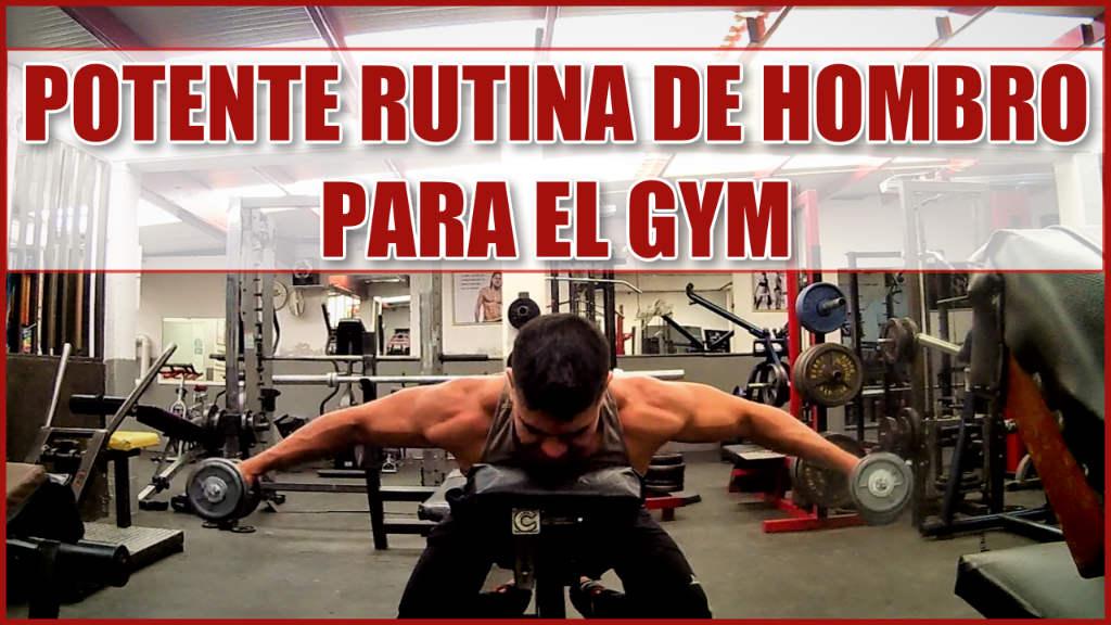 Potente Rutina de Hombro para el Gym